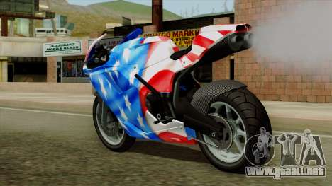 Bati America Motorcycle para GTA San Andreas left