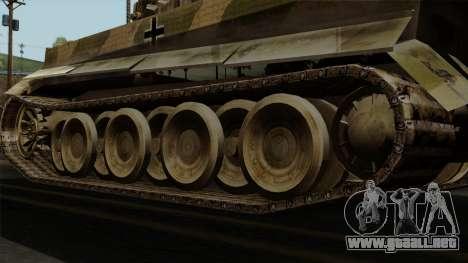 Panzerkampfwagen VI Ausf. E Tiger No Interior para GTA San Andreas vista posterior izquierda