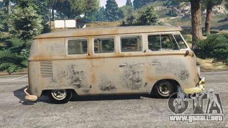 GTA 5 Volkswagen Transporter 1960 rusty [Beta] vista lateral izquierda