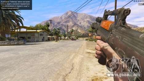 GTA 5 OTS-14 Groza de Battlefield 4 quinta captura de pantalla