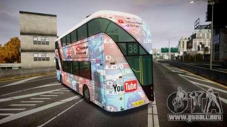 Wrightbus New Routemaster para GTA 4 Vista posterior izquierda