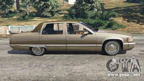 GTA 5 Cadillac Fleetwood 1993 vista lateral izquierda