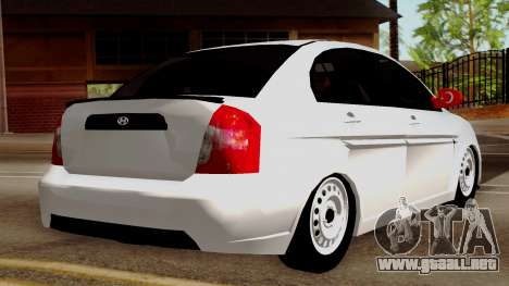 Hyundai Accent para GTA San Andreas left