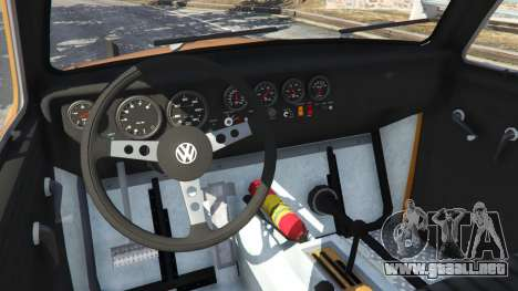 GTA 5 Volkswagen Beetle Baja Bug [Beta] vista lateral trasera derecha