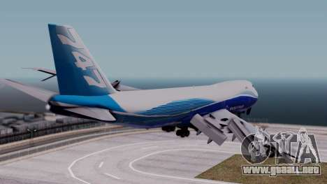 Boeing 747-400 Dreamliner Livery para GTA San Andreas left