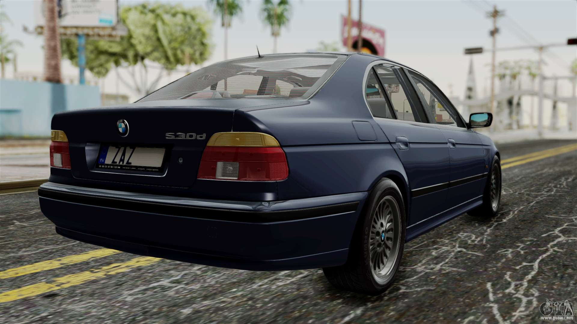 bmw 530d e39 1999 stock para gta san andreas. Black Bedroom Furniture Sets. Home Design Ideas