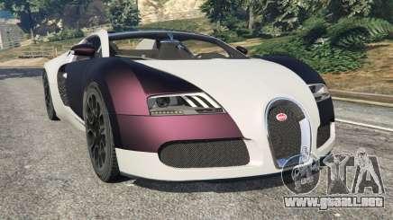 Bugatti Veyron Grand Sport v4.0 para GTA 5
