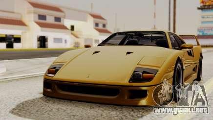 Ferrari F40 1987 HQLM para GTA San Andreas