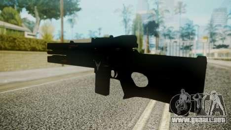 VXA-RG105 Railgun without Stripes para GTA San Andreas segunda pantalla
