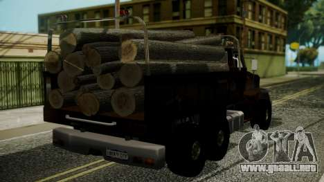 New Flatbed Hard Forest para GTA San Andreas left