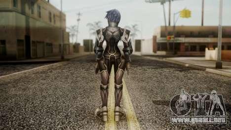 Kingdom Hearts Birth by Sleep - Armor Aqua para GTA San Andreas tercera pantalla