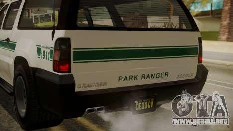 GTA 5 Declasse Granger Park Ranger IVF para vista inferior GTA San Andreas