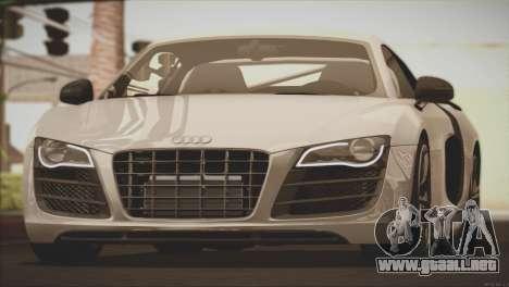 Audi R8 GT 2012 Sport Tuning V 1.0 para la vista superior GTA San Andreas