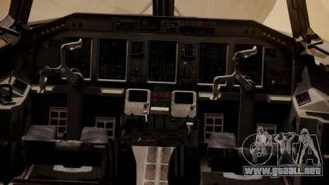 Embraer 170-100 Air Costa para GTA San Andreas vista hacia atrás