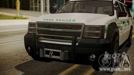 GTA 5 Declasse Granger Park Ranger IVF para visión interna GTA San Andreas