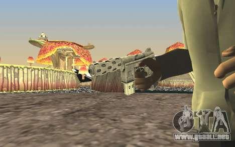 GTA 5 Tec-9 para GTA San Andreas sucesivamente de pantalla