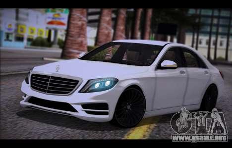 Mercedes Benz S63 W222 Artículos De Calidad para GTA San Andreas
