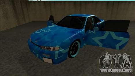 Nissan Silvia S14 Drift Blue Star para GTA San Andreas vista hacia atrás