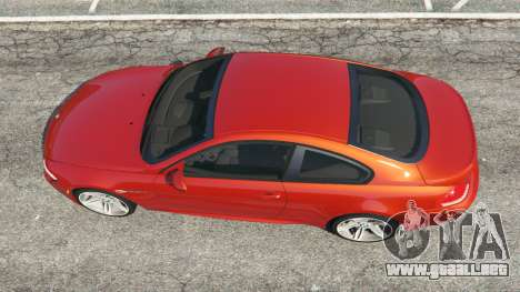 GTA 5 BMW M6 (E63) Tunable v1.0 vista trasera