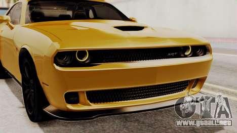 Dodge Challenger SRT Hellcat 2015 IVF PJ para vista lateral GTA San Andreas
