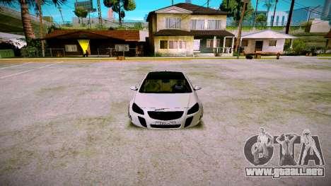 Opel Insignima SCREAM para GTA San Andreas vista hacia atrás
