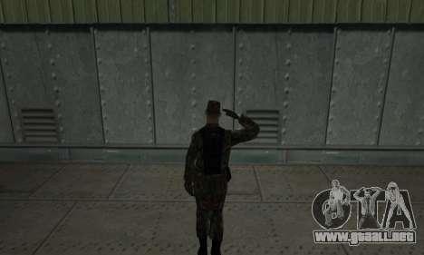 Militar saludo para GTA San Andreas segunda pantalla