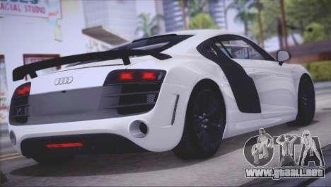 Audi R8 GT 2012 Sport Tuning V 1.0 para la visión correcta GTA San Andreas