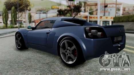 Opel Speedster Turbo 2004 Stock para GTA San Andreas left
