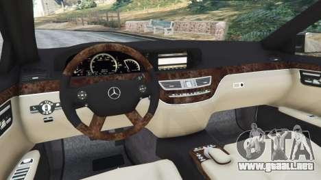 Mercedes-Benz S600 (W221) 2009 para GTA 5
