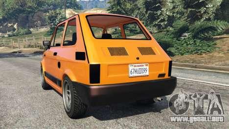 GTA 5 Fiat 126p v1.0 vista lateral izquierda trasera