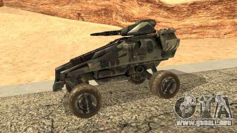Ghost from Metal War para GTA San Andreas left