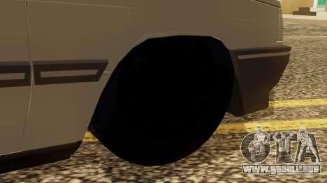 Renault 11 Perfil Bajo para GTA San Andreas vista posterior izquierda