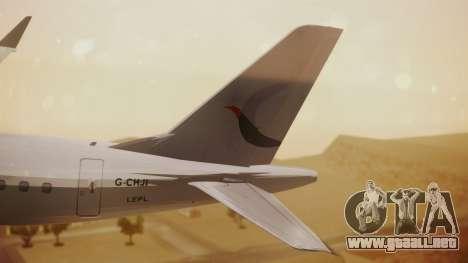 Embraer 170-100 Air Costa para GTA San Andreas vista posterior izquierda