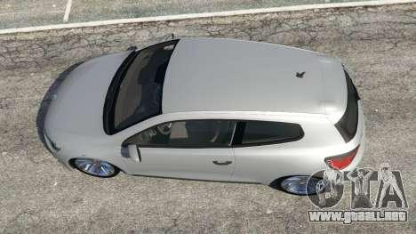 GTA 5 Volkswagen Scirocco [Beta] vista trasera