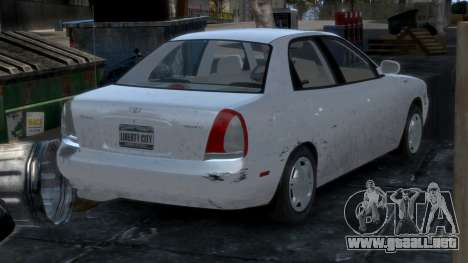 Daewoo Nubira I Sedan SX USA 1999 para GTA 4 interior