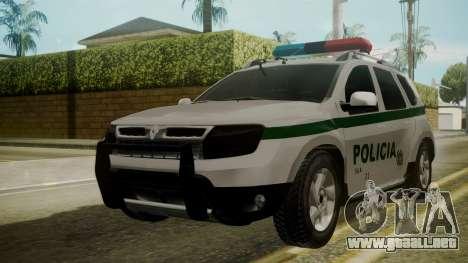 Renault Duster Patrulla Policia Colombiana para GTA San Andreas