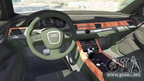 GTA 5 Audi A8 delantero derecho vista lateral