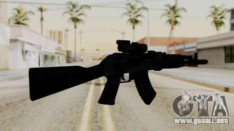 AK-103 with Rifle Dot Aimpoint M2 para GTA San Andreas segunda pantalla