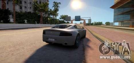 Aston Martin DB9 Vice City Deluxe para GTA 4 vista hacia atrás