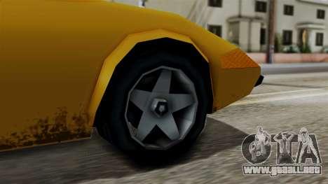 Stinger from Vice City Stories para GTA San Andreas vista posterior izquierda