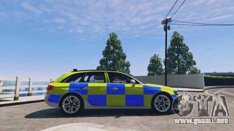 GTA 5 Audi A4 Avant 2013 British Police vista lateral izquierda