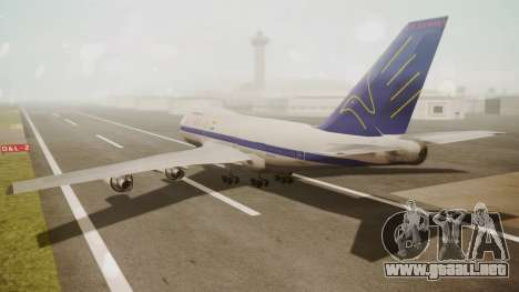 Boeing 747SP ER Airways para GTA San Andreas left