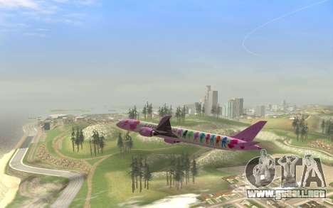 LoveLive Boeing 787-9 Livery para la visión correcta GTA San Andreas