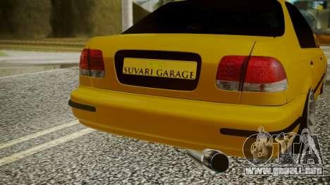 Honda Civic Sedan para GTA San Andreas vista hacia atrás