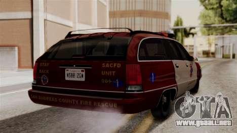 Chevy Caprice Station Wagon 1993-1996 SACFD para GTA San Andreas left