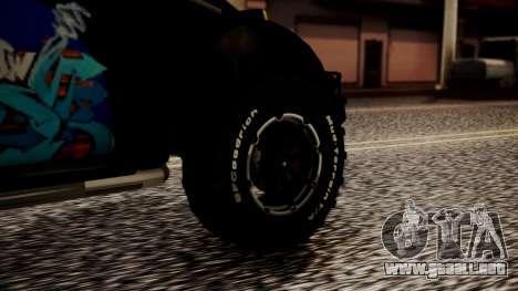 Volkswagen Beetle Vocho-Buggy para GTA San Andreas vista posterior izquierda