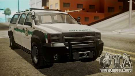 GTA 5 Declasse Granger Park Ranger IVF para GTA San Andreas