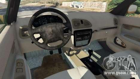 GTA 5 Daewoo Nubira I Wagon CDX US 1999 [Rusty] vista lateral trasera derecha