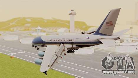 Airbus A380 Air Force One para GTA San Andreas left