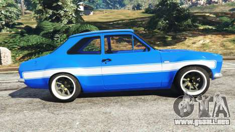 GTA 5 Ford Escort Mk1 v1.1 [blue] vista lateral izquierda